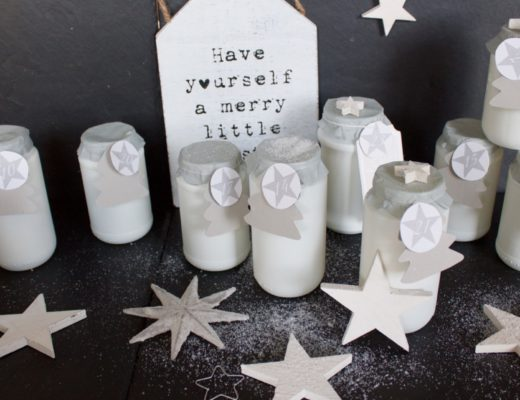 DIY Adventskalender grau weiß
