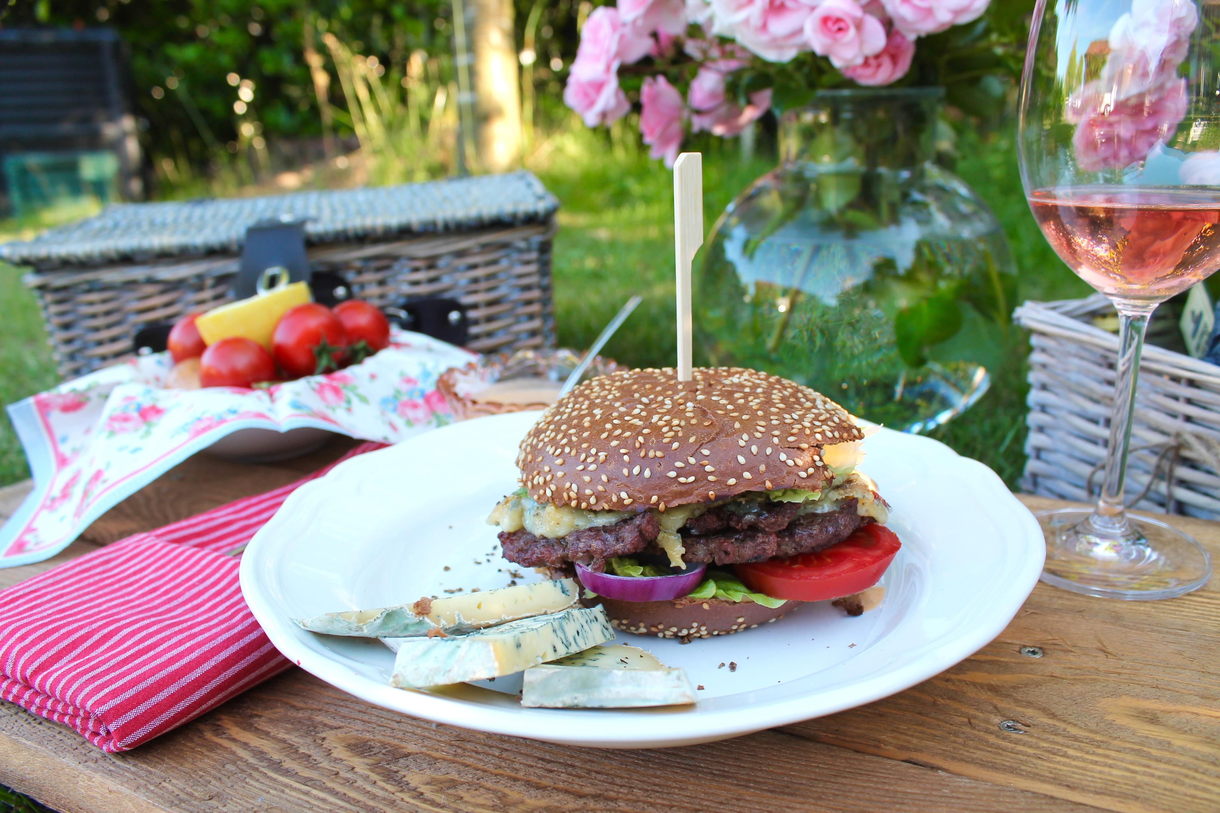 Blauschimmelkäse-Burger